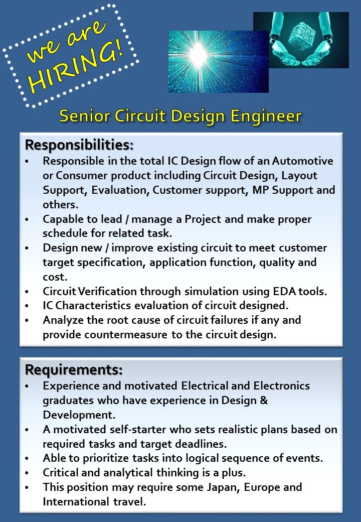 VLSI Design RTL To GDS Industrial Training VLSI RTL Design Computer  Engineering Resume Cover Letter Job